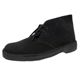 CLARKS DESERT BOOT BLACK SUEDE クラークス デザートブーツ ブラックスエード オリジナルス 黒|marsone