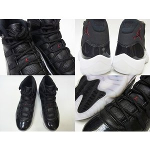 NIKE AIR JORDAN11 RETRO 72-10 ナイキ エア ジョーダン11 レトロ 黒 AJ11 BLACK/GYM RED/WHITE/ANTHRACITE|marsone|03