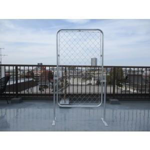 アメリカンフェンス L(90cm×150cm)1枚+スタンド2本+金具4個 ガレージフェンス/パーテーション/金網/ガ mart-net