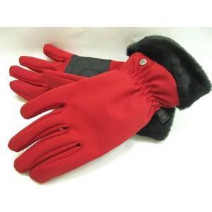 (4●2C) 新品!チロリア 厚手グローブ サイズ 赤-L(●X) 女性用/●|mart-net