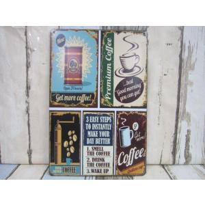 (4■1B)【アメリカンブリキ看板】★coffee多種柄★【S-B135】/●|mart-net