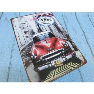 (4■1B) アメリカンブリキ看板 「Cuban Car」 【S-B6】 |mart-net