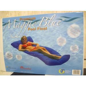 (4■4B)MAGGIE プールフローティングベッド ブルー/● mart-net