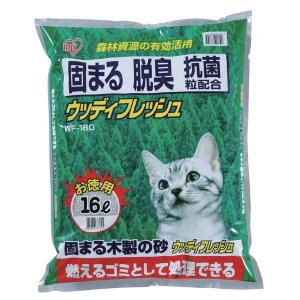 (5■4C)訳 アイリスオーヤマ固まる木製の猫砂16L×1P/● mart-net