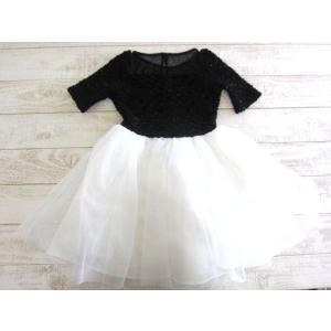 (1■3B)ZUNIE  高級キッズドレス フォーマル ドレス  シースルー サイズ7 (日本サイズ120cm程度)〓EPI|mart-net