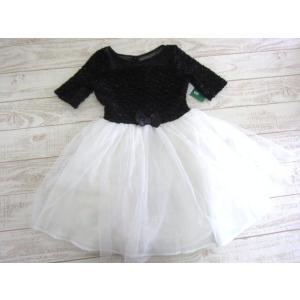 (1■2B)新品 ZUNIE キッズ チュール ワンピース ドレス ブラック/ホワイト 10(日本サイズ140cm程度) 〓ETB|mart-net
