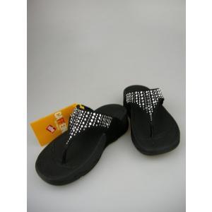 FitFlop フィットフロップ NOVY   ノビー ブラック(MICROFIBBER)【日本正規品】【サンダル  レディース 靴 シューズ エクササイズ コンフォート 】|marthnagoya