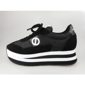 ノーネーム/NO NAME  FLEX JOG ナイロン ブラック/ホワイト 靴 スニーカー 美脚スニーカー 靴|marthnagoya