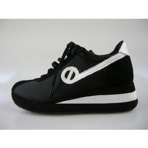 ノーネーム/NO NAME SPEED JOG ナイロン  ブラック/ホワイト 美脚スニーカー靴|marthnagoya