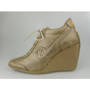 ノーネーム/NO NAME  FLYER ZIP PIMP WOOD 靴 スニーカー【ファスナー付】【2WAY】 美脚スニーカー 靴|marthnagoya