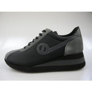 ノーネーム/NO NAME SPEED JOG ナイロン  ブラック/グレー 美脚スニーカー靴|marthnagoya