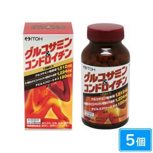 グルコサミン&コンドロイチン108g(300mg×約360粒)×5個|maruai