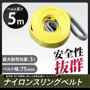 ナイロンスリングベルトスリング 5m 耐荷重3.0t 物流、運搬用品|marubi