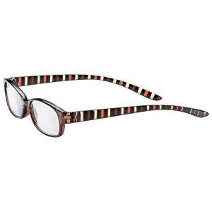 おしゃれな メガネ屋さんの 老眼鏡 シニアグラス ストライプ +1.00 (専用ケース&吊り下げコード付) 5080-10|marucomarket