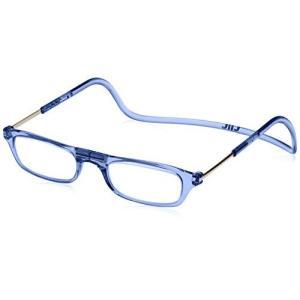 クリックリーダー 老眼鏡 Clic Readers メンズ ブルー +2.00-(FREEサイズ)|marucomarket