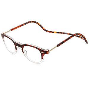 クリックリーダー 老眼鏡 Clic Vintage メンズ トートイス/クリアー 日本 +3.00-(FREE サイズ)|marucomarket