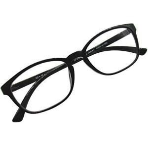 老眼鏡 ウェリントン リーディンググラス シニアグラス 軽量 超弾性素材 TR90 (ブラック,+1.50)|marucomarket