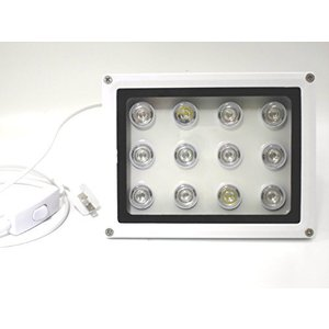 24W 青8白2赤2 防水投光器 LEDライト 60度レンズ marucomarket
