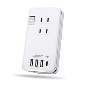 Ewin usb コンセント 電源 タップ 3AC口 + 4USBポート付き pd usb type c 充電 器 iphone タイプ c|marucomarket
