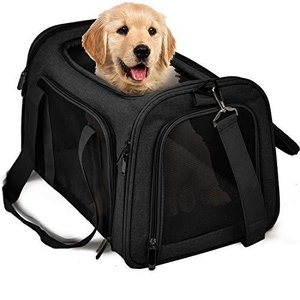 TrutDotペットキャリーバッグ 安全な猫キャリーバッグ 通気性抜群 犬キャリー ショルダー 折りたたみ 手提げキャリーバッグ マット付き|marucomarket