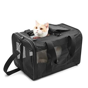 HITSLAM 人気のペットキャリーバッグ 猫・小型犬用 ショルダー 手提げ キャリー バッグ,3面メッシュ 通気性耐久性抜群, 軽量 携帯|marucomarket