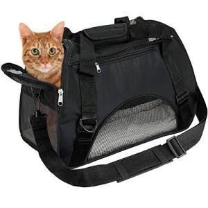 EVELTEK ペット用 キャリーバッグ 3way ショルダー 猫・小型犬用 キャリーバッグ・スリング 愛犬と旅行にぴったり ペット用マット|marucomarket