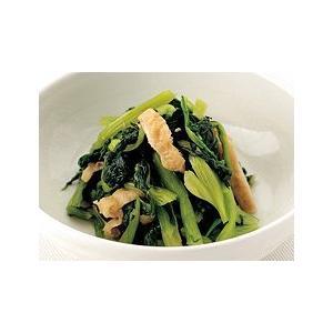 業務用 茨城産小松菜と揚げの煮物 500g|marucomarket