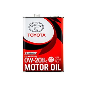 TOYOTA(トヨタ) エンジンオイル トヨタ純正 キヤッスルモーターオイル 0w-20 SN/GF-5 全合成油 4L 08880-12205|marucorp