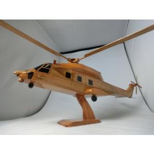 手作り木製模型 ヘリコプター NH90 HEL-012|marucorp