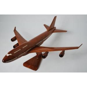 手作り木製模型 飛行機 ボーイング B747 大 PLA-001|marucorp