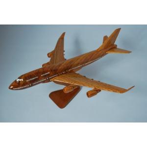 手作り木製模型 飛行機 ボーイング B747 小 PLA-002|marucorp