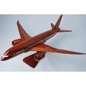 手作り木製模型 飛行機 ボーイング B787 大 PLA-003