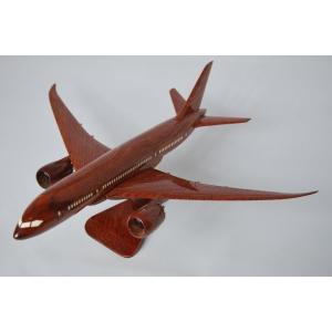 手作り木製模型 飛行機 ボーイング B787 小 PLA-004|marucorp