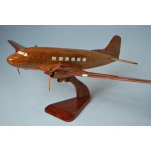 手作り木製模型 飛行機 ダグラス DC3 PLA-010|marucorp