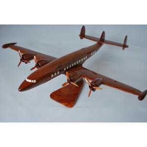 手作り木製模型 飛行機 ロッキード スーパーコンステレーション L-1049 PLA-011|marucorp