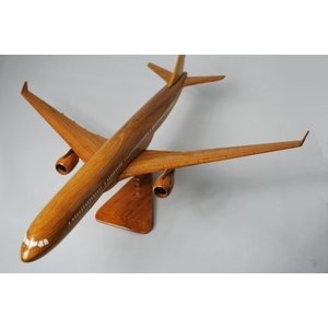 手作り木製模型 飛行機 エアバス A330 PLA-012|marucorp