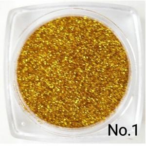 ディープゴールド・濃金  50g 0.15mm角 国産ラメグリッターパウダー No.1|marufu-ys