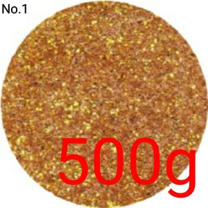 ディープゴールド 業務用500gパック 国産ラメグリッターパウダー No.1|marufu-ys
