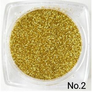 ゴールド 50gパック 0.15mm角 国産ラメグリッターパウダー No.2|marufu-ys