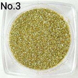 ライトゴールド  0.15mm角 国産ラメグリッターパウダー No.3|marufu-ys