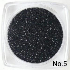 ブラック 50gパック 0.15mm角 国産ラメグリッターパウダー No.5|marufu-ys