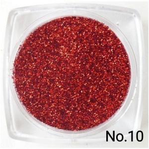 レッド・赤. 50gパック 0.15mm角  国産ラメグリッターパウダー No10|marufu-ys