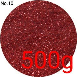 レッド・赤 業務用500gパック 卸売り 国産ラメグリッター No.10|marufu-ys