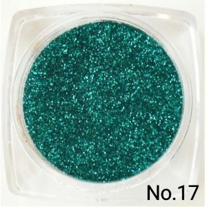 グリーン・緑 50gパック 0.15mm角 国産ラメグリッターパウダー No.17|marufu-ys