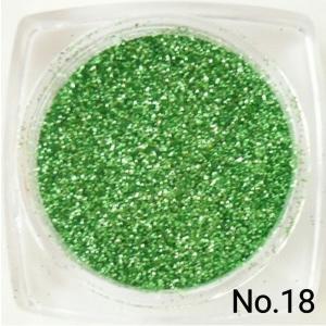 ライトグリーン・ウス緑 50gパック 0.15mm角  国産ラメグリッターパウダー No.18 marufu-ys