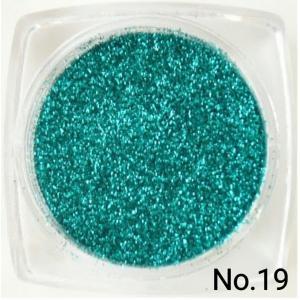 ブルーグリーン・青緑 50gパック 0.15mm角 国産ラメグリッターパウダー No.19 marufu-ys