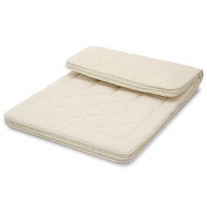 丸八真綿 高級羊毛多重層敷き布団 セレクトン 専用カバー付 ダブル(D)|maruhachi