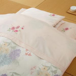 丸八真綿 掛布団カバーソワリーEX シングル 刺繍入り高級掛け布団カバー|maruhachi