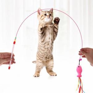 猫じゃらし ねこじゃらし ネコじゃらし 猫おもちゃ 魚型クッション 鈴付き 猫用品 猫グッズ 猫じゃ...