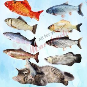 猫 自動おもちゃ 電動魚 ぬいぐるみ またたびおもちゃ 魚おもちゃ USB充電式 抱き枕 魚 ネコ ...